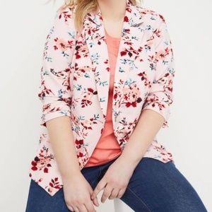 Lane Bryant Blazer - Floral Crepe Single Button